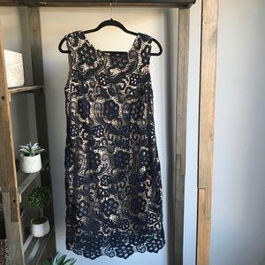 Moon Blue Lace Crochet Dress